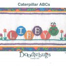 Caterpillar ABCs Doodlebugs Smocking Plate Alphabet Sewing Smocking design