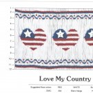 Love MY COUNTRY Creative Keepsakes Smocking Plate Stars and  Stripes Sewing Smocking design