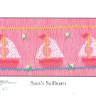 Sara's Sailboat  Crosseyed Cricket Smocking Plate Sewing Smocking design