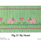 Pig O' My Heart Mollie Jane Taylor Smocking Plate  Sewing Smocking design