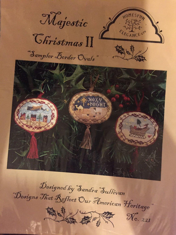 The Homespun Elegance Sampler cross stitch chart Majestic Christmas II (Chart only)
