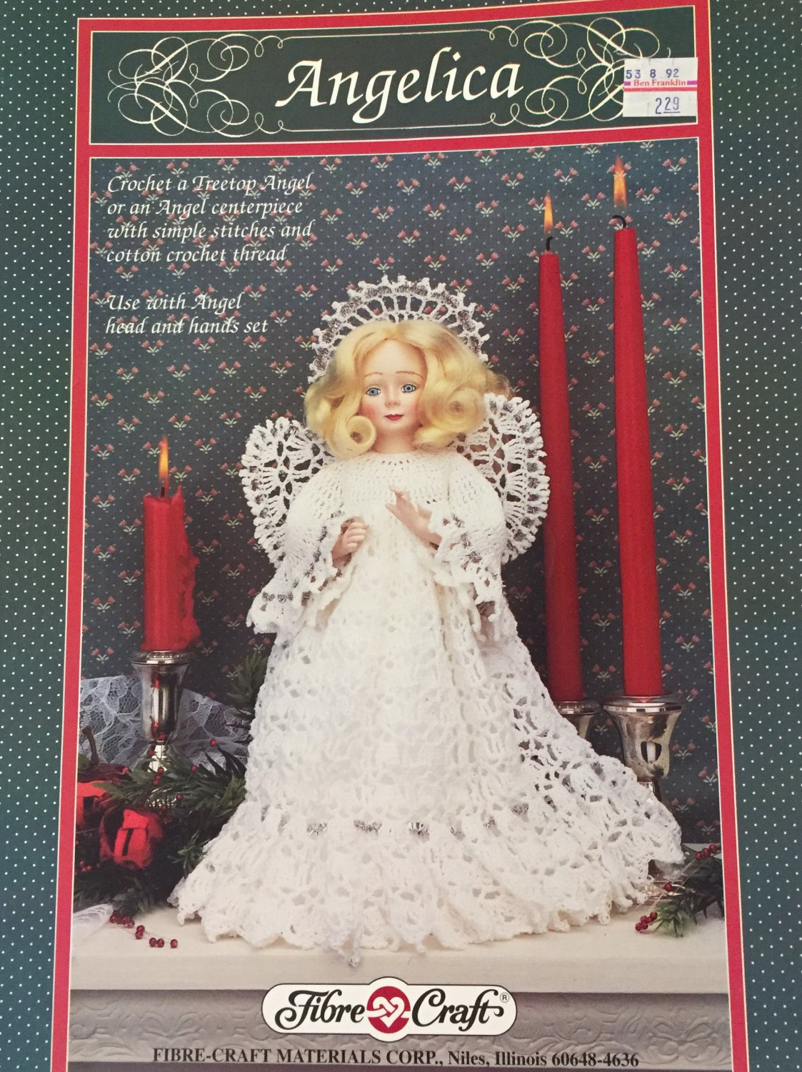 Angelica Tree Top Angel Crochet Pattern Fibre Craft FCM305
