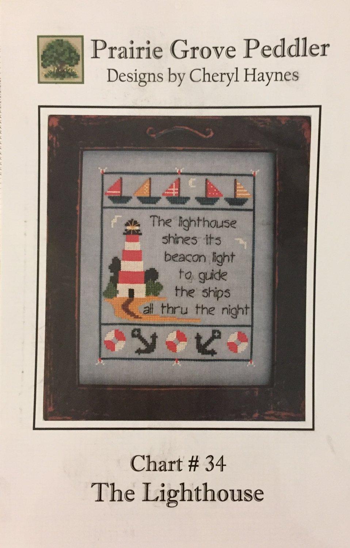 Prairie Grove Peddler cross stitch chart #34 The Lighthouse by Cheryl Haynes