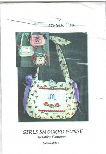 Girls Smocked Purse Sewing Pattern Cathy Tiemann