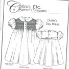Dottie's Day Dress  Collars, etc.  Pattern Company  sizes 1 - 8  smocking