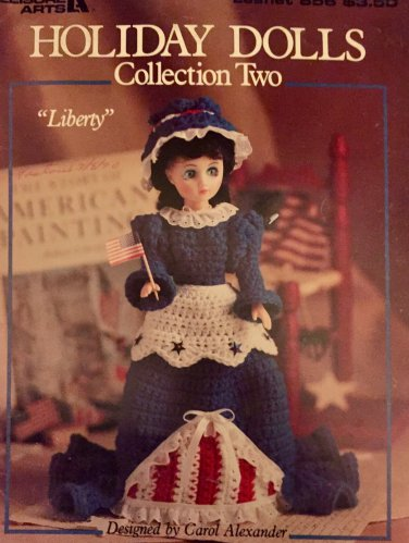 Holiday Dolls Collection Two Leisure Arts Crochet Pattern Leaflet 856