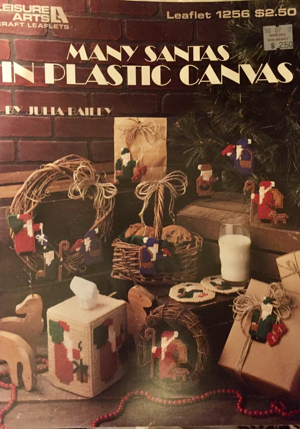 Many Santas in Plastic Canvas Pattern Leisure Arts 1256