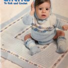 Baby Layettes Crochet Knit  Pattern Leisure Arts Leaflet 125 By Marion Graham