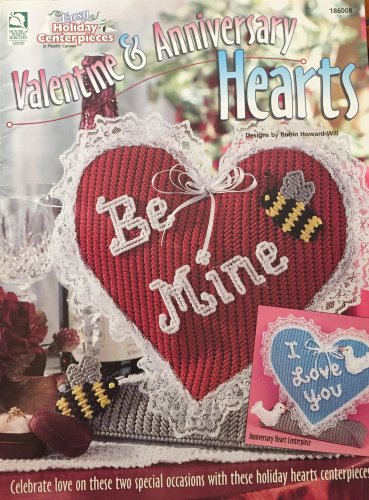 Valentine & Anniversary Hearts  Plastic Canvas Pattern House of White Birches 186008