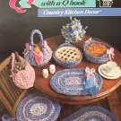 Annie's Attic Country Kitchen Decor 653A Quick & Easy with a Q Hook crochet Casserole Carrier, rug