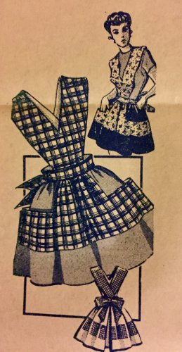 Vintage Mail Order American Weekly 7317  1950's Apron Sewing Pattern