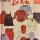 New Look for Kids 6049 pattern Jumper, Sweatshirt, Hooded Poncho, trousers SIZE 1/2-4