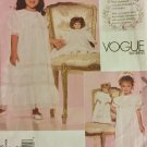 Vogue Sewing Pattern 2105 with transfer, Strasburg Heirloom Collection, Age 2-3-4-5,