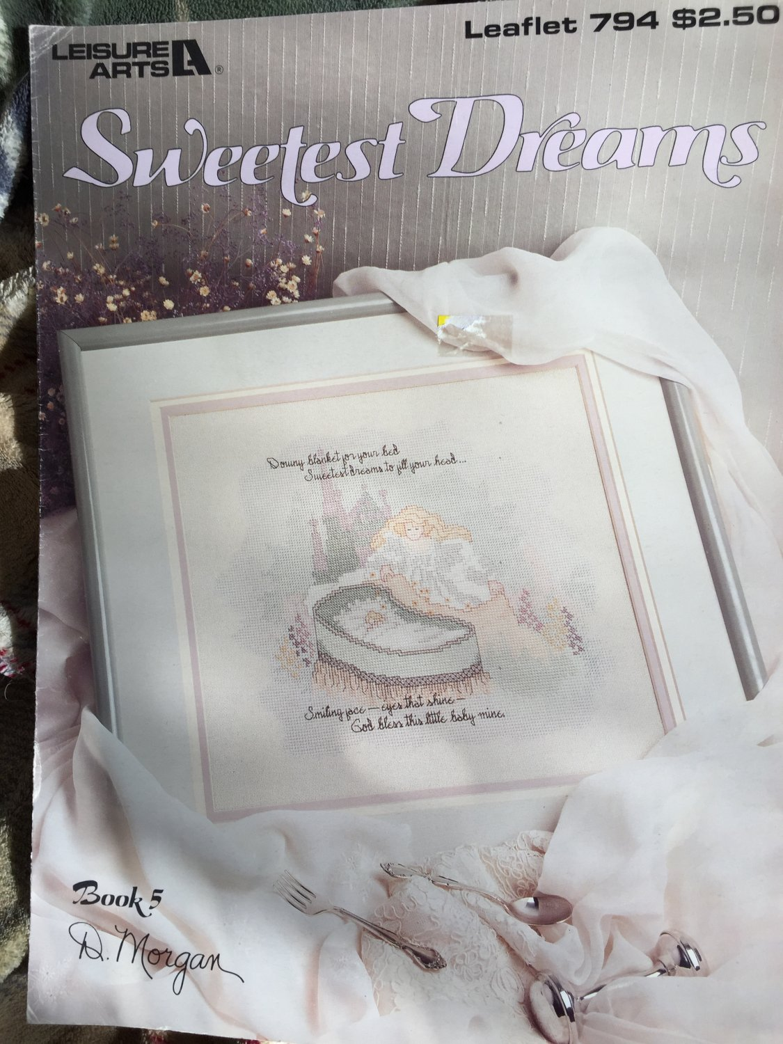 Leisure Arts 794 Sweetest Dreams Cross Stitch pattern graph Baby Poem