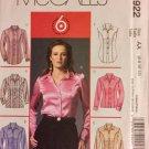 McCall's 4922 Size 6, 8, 10, 12 Women's sewing pattern: princess seam Blouse shirt 6 great looks