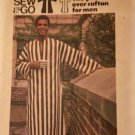 Butterick 3383 Classic Pullover Caftan for Men with Side Seam Slits Size Large