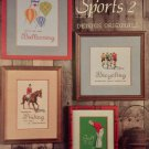Super Sports 2 Cross Stitch Charts Dennis Originals Book 13 Ballooning Sky-Diving Bicycling