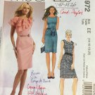Laura Ashley Womens Fitted Dress Neckline Variations McCalls Sewing Pattern M5972 Size 14 16 18 20