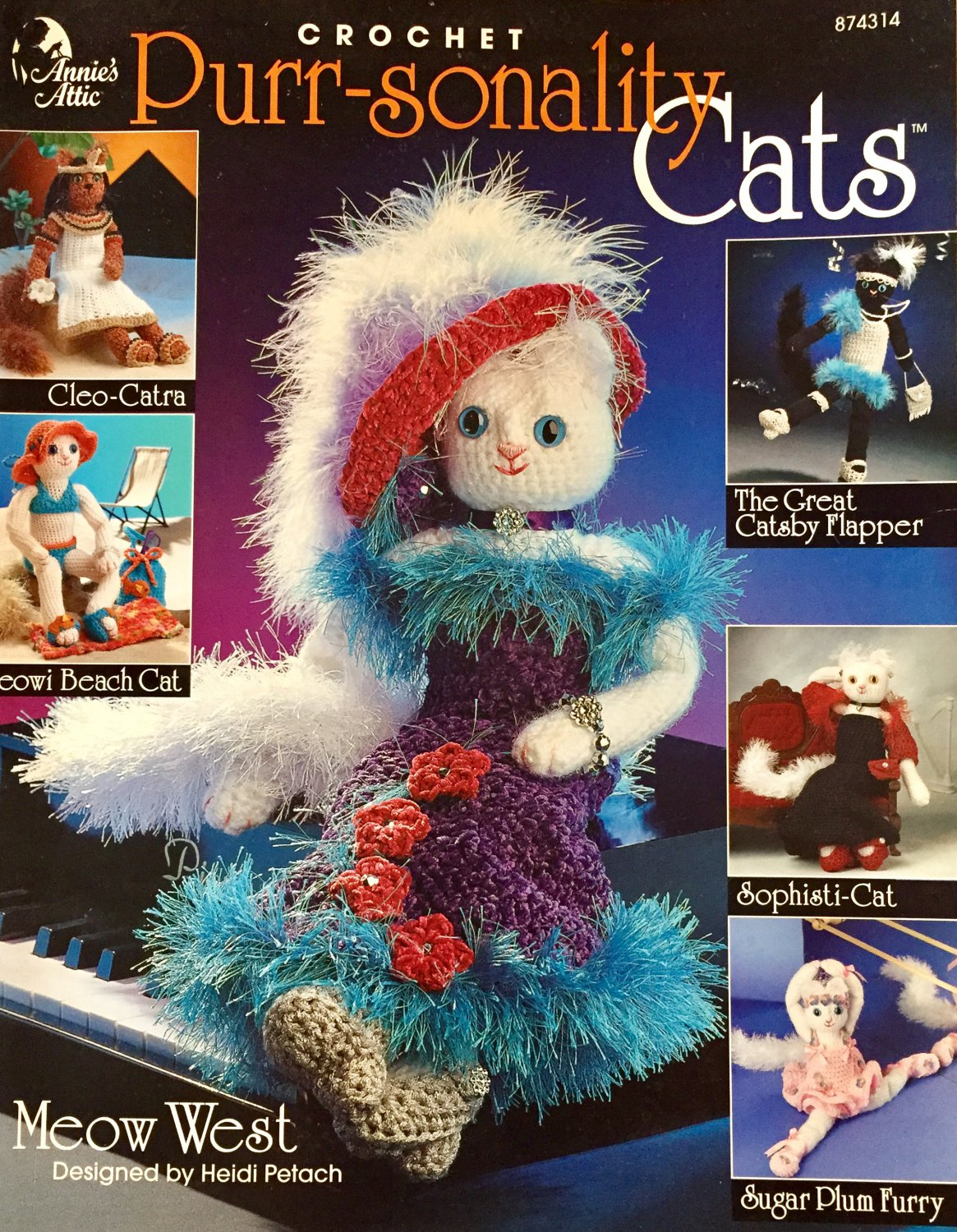 Purr-sonality Cats Annie's Attic 874314 Crochet Pattern
