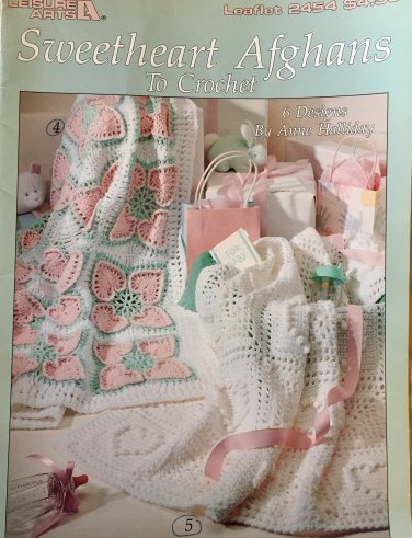 Leisure Arts 2454 Sweetheart  Baby Afghans to Crochet Anne Halliday