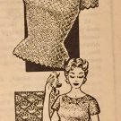 "VINTAGE Mail Order Pattern 7187 Crocheted Blouse sizes 32"" to 38"""