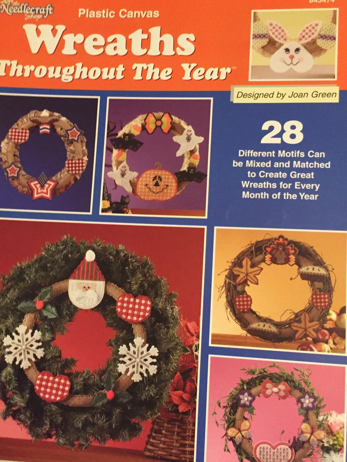 Wreaths Throughout the Year Plastic Canvas Pattern The Needlecraft Shop 843474