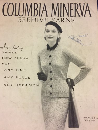Vintage Knitting Pattern Columbia Minerva Beehive Yarns Volume 716