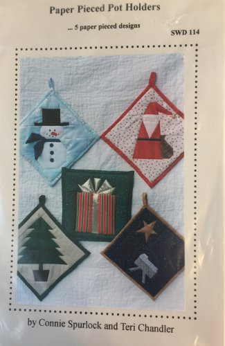 Christmas Pot Holders Paper Pieced Appliques by Connie Spurlock and Teri Chandler