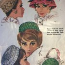 Vintage McCall's 6515 Smocked Hats One Size Junior and Misses sewing pattern