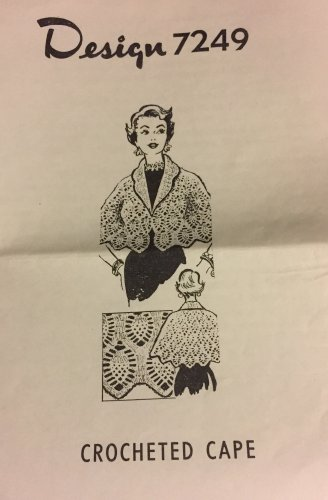 VINTAGE Mail Order Pattern 7249 Woman's Crocheted Shrug  pineapple design Sizes 36 to 46