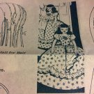 VINTAGE Uncut Mail Order Pattern transfer design 7183 Doll Laundry Bag