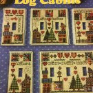 Switchplates Log Cabins Cross stitch Pattern Book JL204  Jeremiah Junction Designs