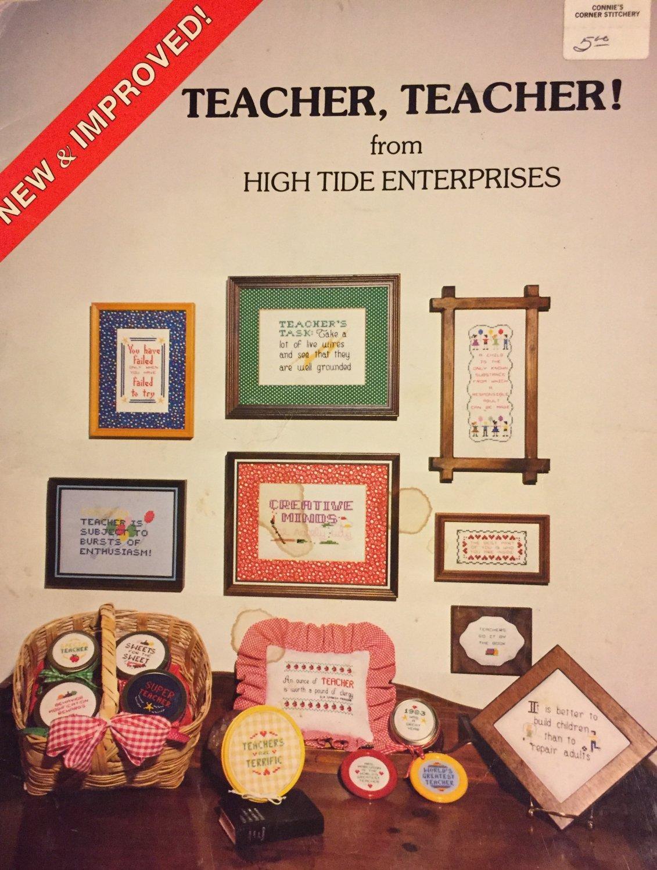 Teacher, Teacher Cross stitch Pattern From High Tide Enterprises