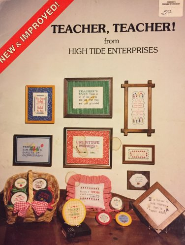 Teacher, Teacher Cross stitch Pattern From High Tide Enterprises