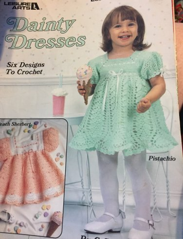Leisure Arts 2071 Dainty Dresses for Toddlers  Crochet Pattern