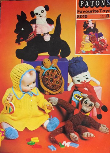Knitting Patterns Crochet Favourite Toys Beehive Patons 8010 Monkey, doll clothes Humpty Dumpty