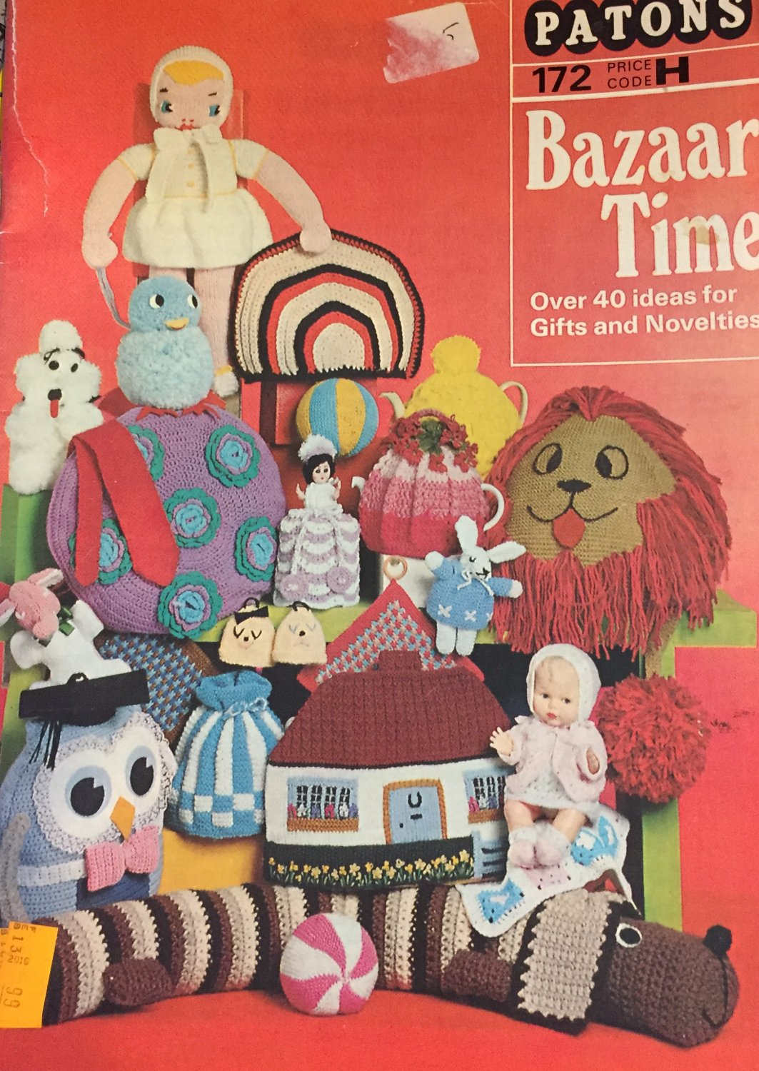 Knitting Patterns Crochet Bazaar Time Beehive Patons 172 Cozies, TIes, Toys and more