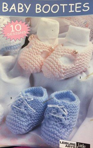 Baby Booties to  Crochet Leisure Arts Little Book 75019