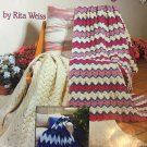New Ripple Afghans  by Rita Weis Knit and Crochet Patterns