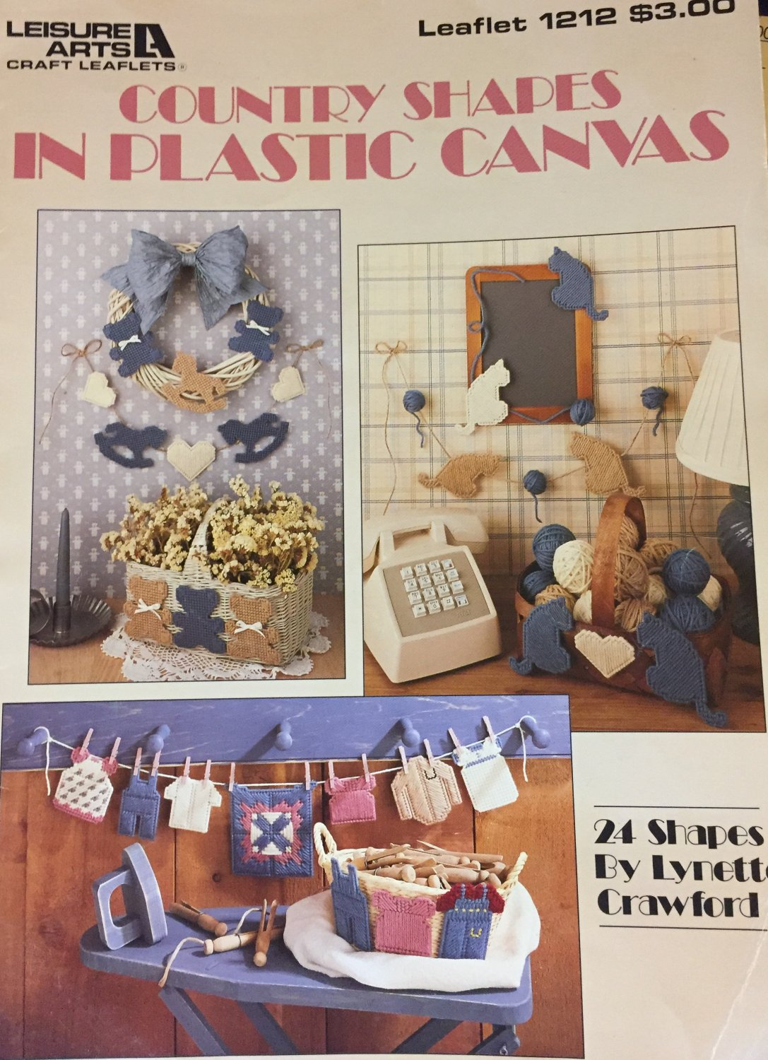 COUNTRY Shapes in Plastic Canvas Pattern  Leisure Arts 1212