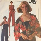 Vintage 1970s Womens Jumpsuit Pattern with Tie-Front Jacket - Simplicity 7748 size 6 / 8