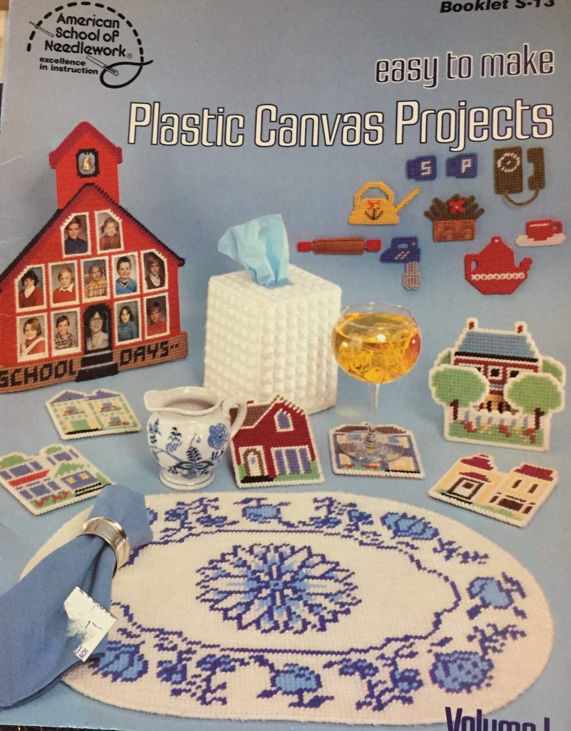Easy to Make Plastic Canvas patterns Volume 1 American School of Needlework Coasters Magnets