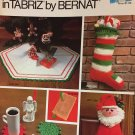 Christmas in Tabriz Bernat Crochet Pattern booklet 256 Stockings, tree skirt, gifts