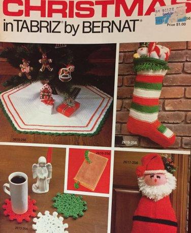 Christmas in Tabriz Bernat Crochet Pattern booklet 256 Stockings, tree skirt, gifts