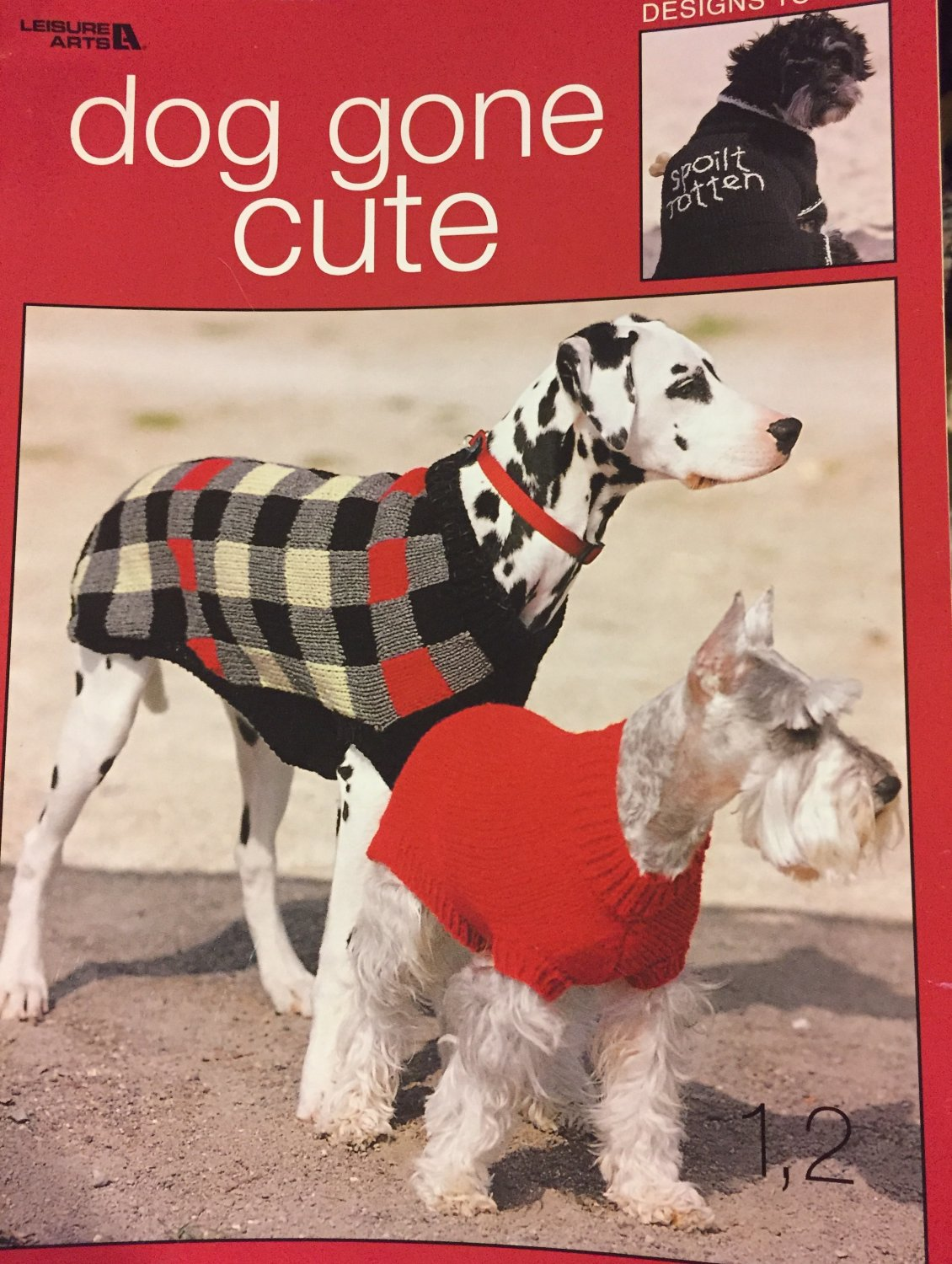 Dog Gone Cute Designs to Knit Leisure Arts 3318 Doggy Sweaters