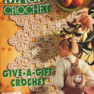 Magic Crochet Pattern Magazine Number 129 December 2000 Irish Crochet, trims, bags, hats