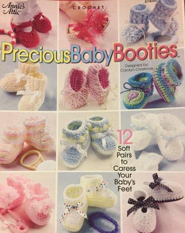 Precious Baby Booties Crochet Patterns Annie's Attic 874050