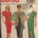 Burda 4117 Tunic Dress V Neckline Straight Skirt Raglan Sleeve Jacket, Size 12 - 24 Sewing Pattern,