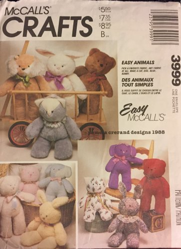 McCall's 3999  Bear  Doll Sewing Pattern