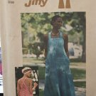 Vintage sewing pattern Simplicity 7454 sun dress Jumper Fitted bodice Crossed Straps Size 16 - 18